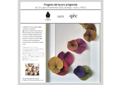 PROJECT: Art and Artisanal Project #002 with qèc Aug-Sep 2020